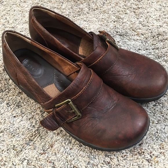 b.o.c. Brown Leather Wedge Shoes